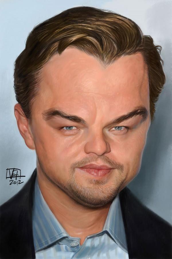 Caricatura de Leonardo DiCaprio