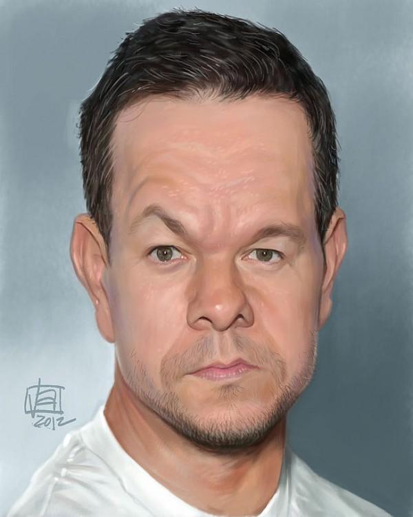 Caricatura de Mark Wahlberg