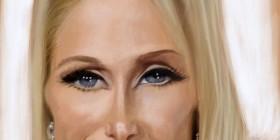 Caricatura de Paris Hilton