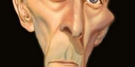Caricatura de Peter Cushing