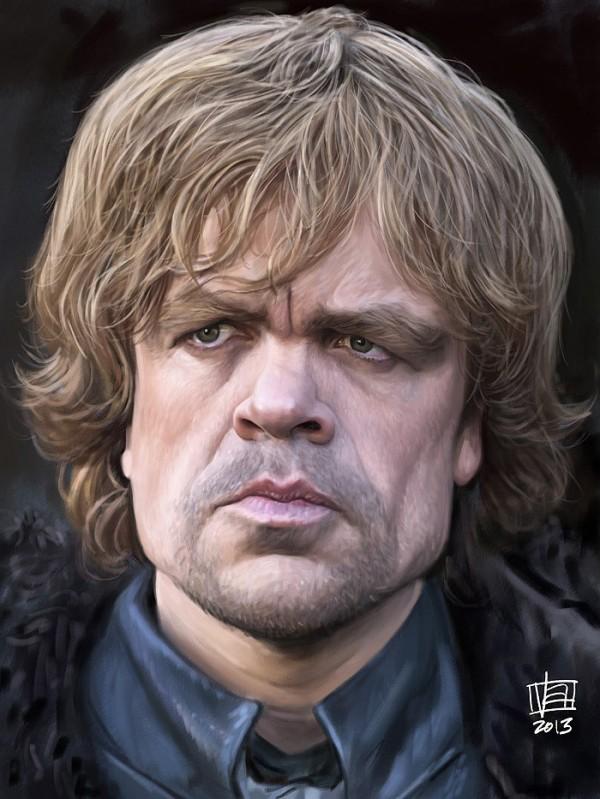 Caricatura de Peter Dinklage como Tyrion Lannister