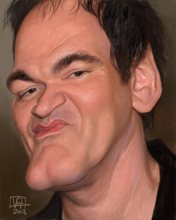 Caricatura de Quentin Tarantino