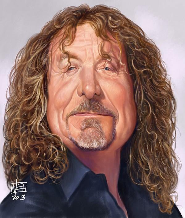 Caricatura de Robert Plant