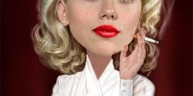 Caricatura de Scarlett Johansson