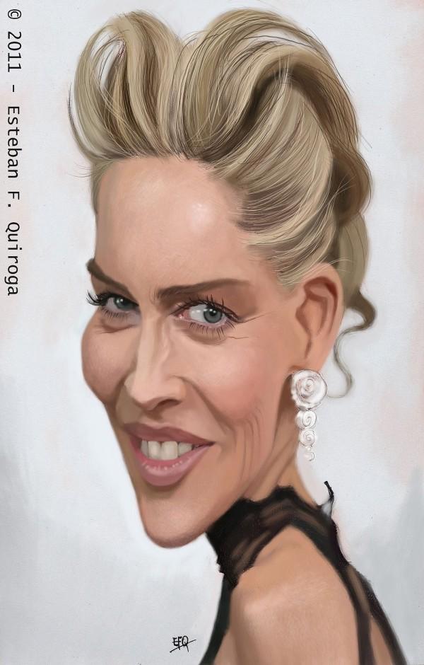 Caricatura de Sharon Stone