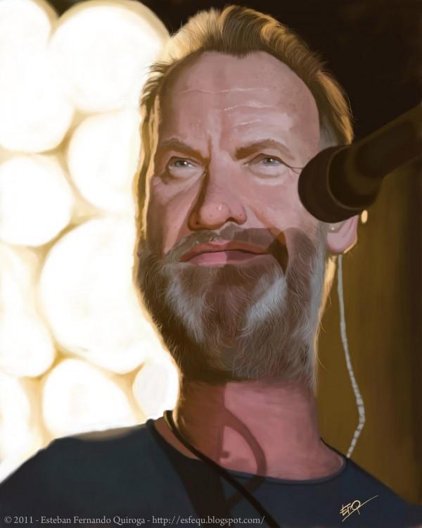 Caricatura de Sting