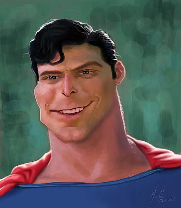 Caricatura de Superman