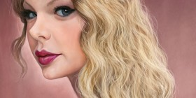Caricatura de Taylor Swift
