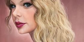 Caricatura de Taylor Swift