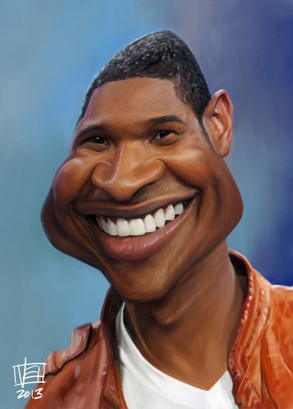 Caricatura de Usher