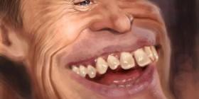 Caricatura de Willem Dafoe
