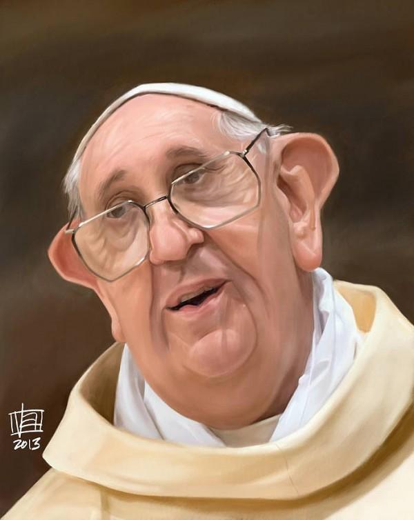 Caricatura del Papa Francisco