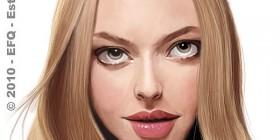 Caricatura de Amanda Seyfried