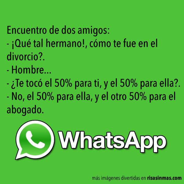 Chistes de WhatsApp: Divorcio