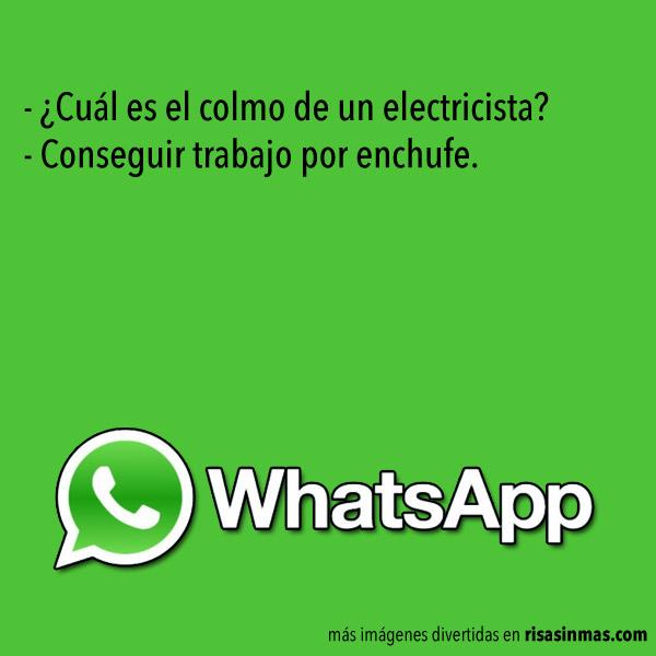 Chistes de WhatsApp: Electricista