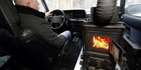 Coche con calefacción central en Rusia