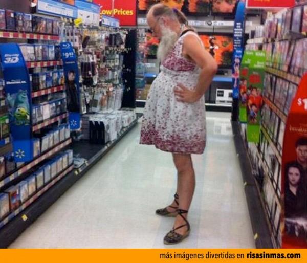 Comprando en el supermercado...