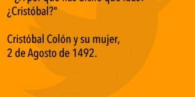 Cristóbal Colón se va a por tabaco