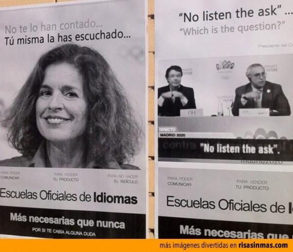 Cursos de inglés de Ana Botella
