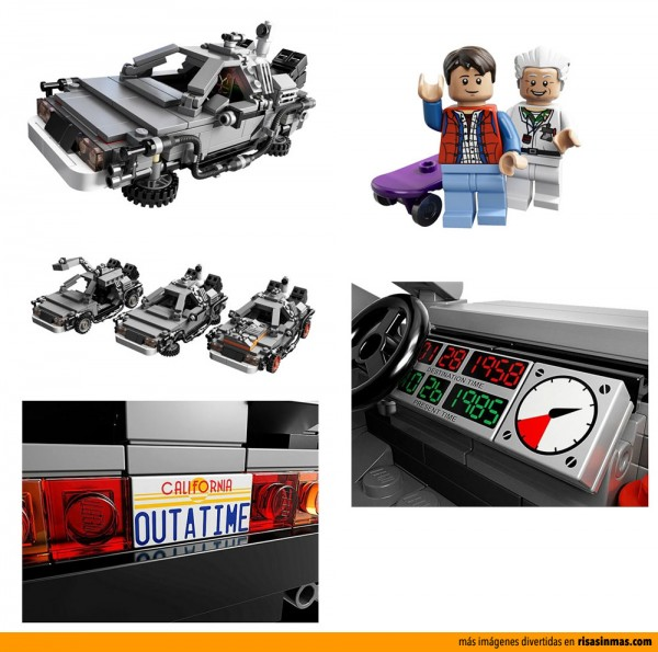 DeLorean DMC-12 de Regreso al Futuro de LEGO
