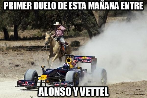 Duelo Vettel vs Alonso