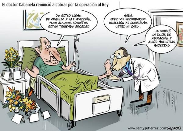 El doctor Cabanela no cobrará por la operación al Rey