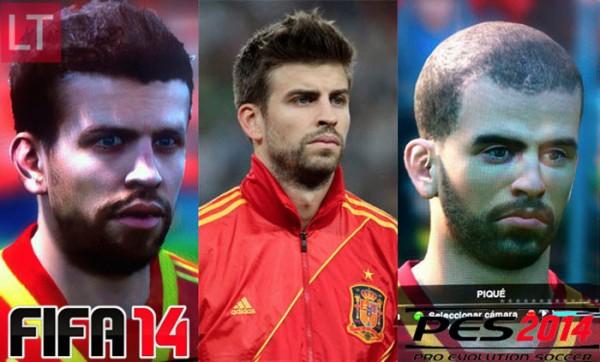 FIFA 14 vs PES 14 y Piqué