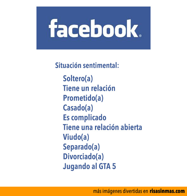 Facebook: Situación sentimental