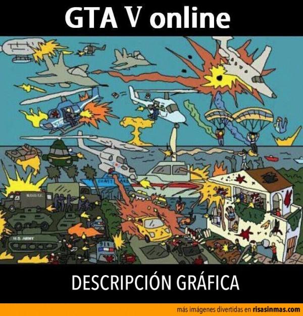 GTA V online, descripción gráfica
