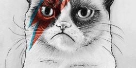 Grumpy cat Kratos