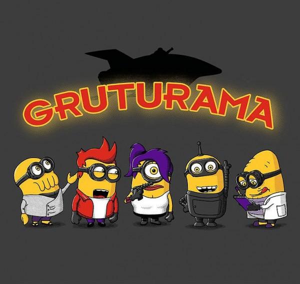 Gruturama: Minions versión Futurama