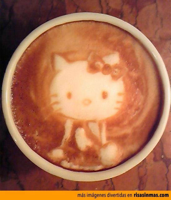 Hello Kitty en el café