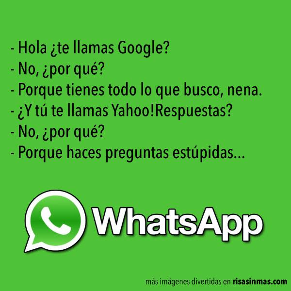 Hola ¿te llamas Google?