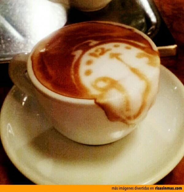 Homenaje a La persistencia de la memoria con un café