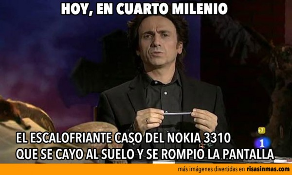 Hoy, en Cuarto Milenio el caso del Nokia 3310