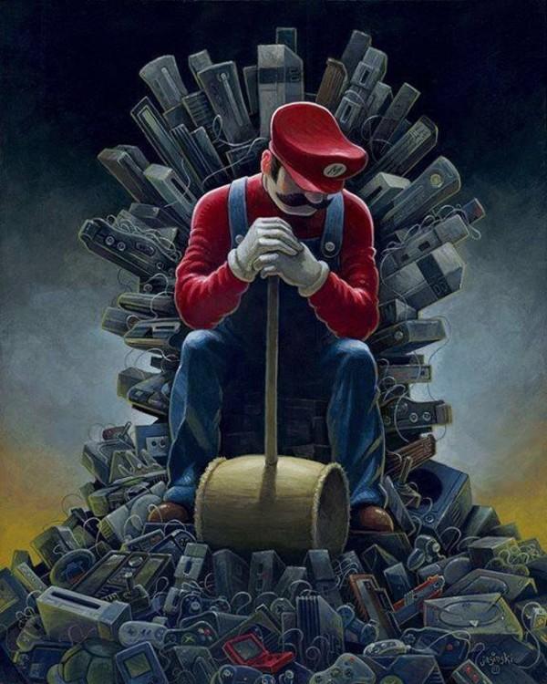 Juego de tronos versión Mario Bros