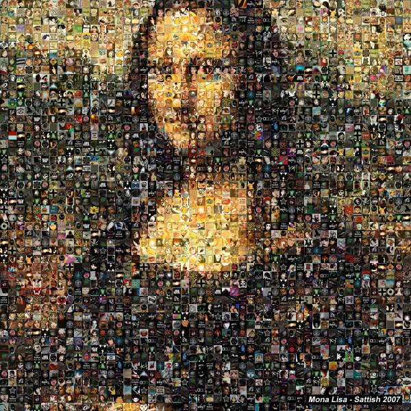 La Mona Lisa hecha con iconos