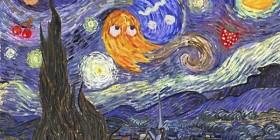 La noche estrellada y Pacman