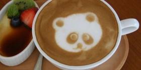 Latte art: Oso Panda