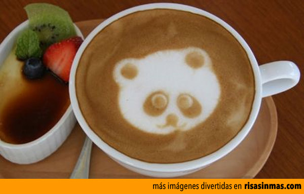 Latte art: Oso Panda
