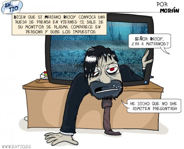 Mariano Rajoy compareciendo