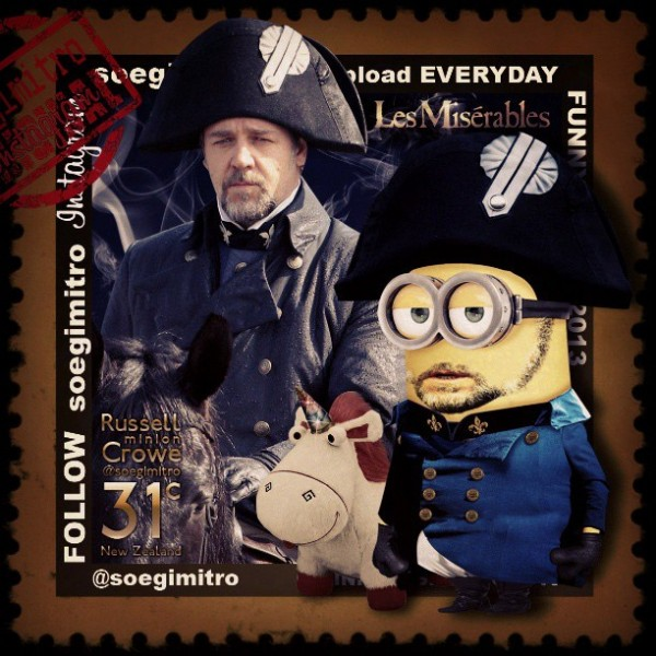 Minion de Russell Crowe en Los Miserables