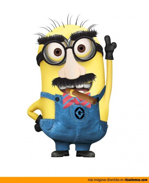 Minion disfrazado de Groucho Marx