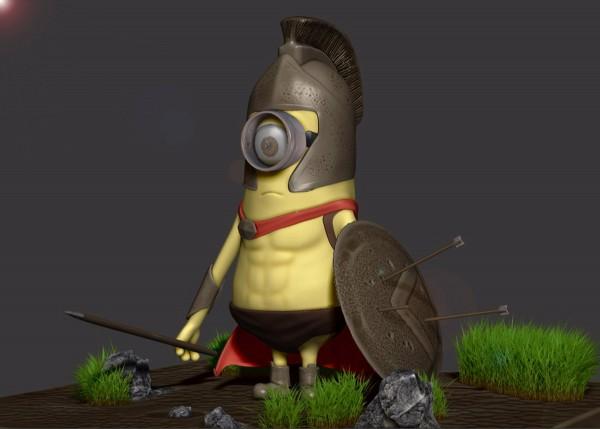 Minion espartano de 300