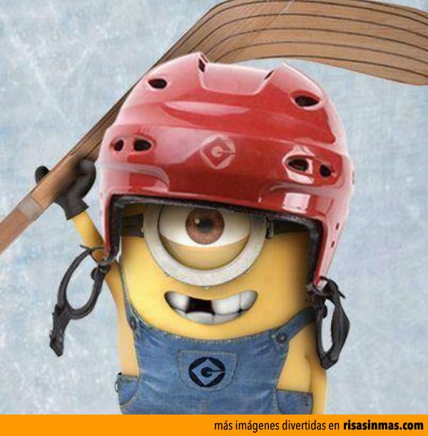 Minion jugador de hockey