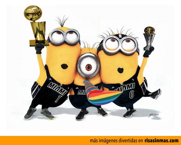 Minions de Miami Heat campeones de la NBA 2013