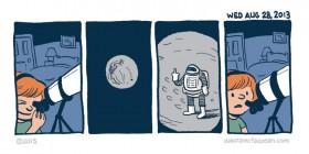 Mirando la luna