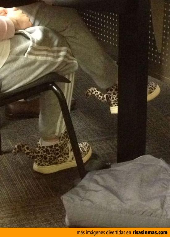 Mis nuevas zapatillas leopardo
