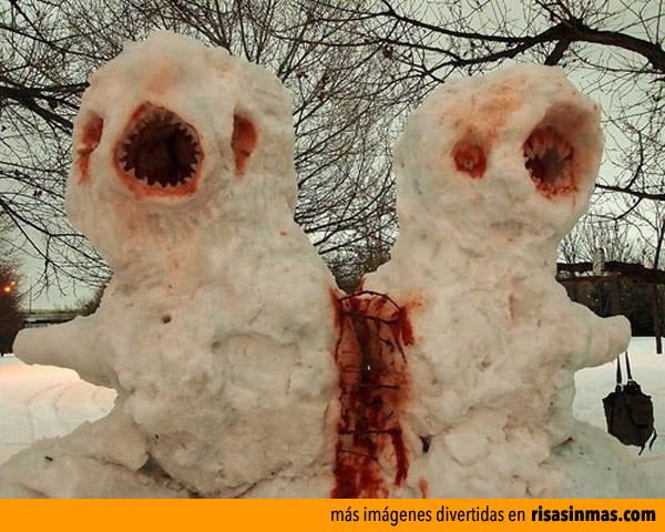 Muñecos de nieve para Halloween terroríficos