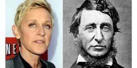 Parecidos razonables: Ellen DeGeneres y Henry David Thoreau